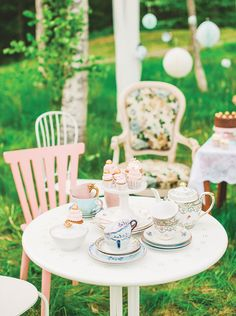 Charming & Lovely Ladies Garden Tea Party
