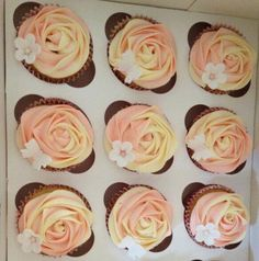 Delicious vanilla flavoured cupcakes, with buttercream frosting...
