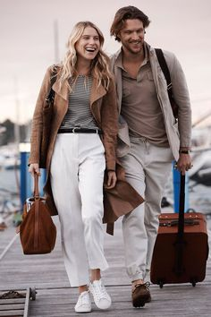 Joined by Dree Hemingway, Shaun DeWet dons chic neutrals for Massimo Dutti's spring 2016 Travel Edit.