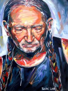 Oil Painting On Canvas Willie Nelson 30x40 by rachel4art on Etsy