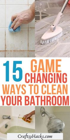 It's time to get to cleaning bathroom! Try these household cleaning tips, from how to clean the tub to other bathroom cleaning hacks you've never seen before. Household 15 Bizarre Bathroom Cleaning Tips Bathroom Cleaning Hacks, Household Cleaning Tips, Deep Cleaning Tips, House Cleaning Tips, Cleaning Solutions, Bathroom Organization, Cleaning Lists, Cleaning Schedules, Speed Cleaning