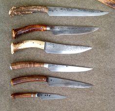 Longhunter Knives. #Longhunter #ScottSummerville #MattLesniewski #JoeSeabolt #HershelHouse #ColonialKnife Cool Knives, Knives And Swords, Bushcraft, Antler Knife Handle, Diy Knife, Knife Patterns, Medieval Weapons, Forged Knife, Weapon Concept Art