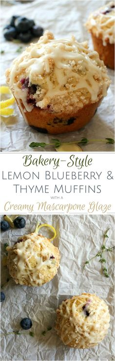 Bakery Style Blueberry Muffins recipe | The Chunky Chef | http://thechunkychef.com