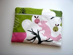 """15"""" Laptop Sleeve with Pocket Pink Squirrel Handmade by Babimini, €27.00"""