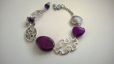 This item is unavailable Purple Necklace, Purple Jewelry, Funky Jewelry, Beaded Jewelry, Beaded Bracelets, Unique Jewelry, Necklaces, Design Creation, Bijoux Design