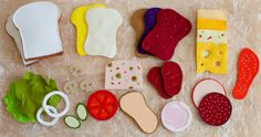 How fun would this be..... Hey, I found this really awesome Etsy listing at https://www.etsy.com/listing/80297632/felt-sandwich-set-felt-food-wool