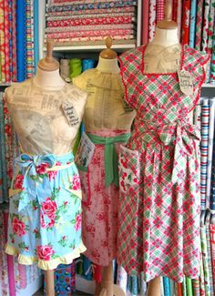 Pretty Vintage Aprons (One for me and Rei)