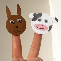 can make finger puppets for characters in books