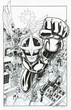 Arthur Adams - Nova Original Drawing/Inked Cover Variant #25