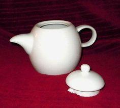 Mid Century Modern Style White Teapot | eBay