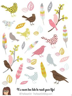 Graceful Birds of a Feather Icons - TheResetGirlShop