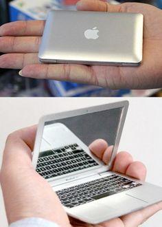 Mac attack! Compact mirror.