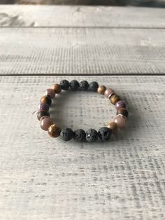 Natural Stone Jewelry, Stone Bracelet, Natural Gemstones, Lava, Barefoot, Diffuser, Beaded Bracelets, Etsy, Products