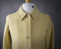 Vintage 1990's Jackie O Style Silk Jacket, 1960's Style Silk Jacket Made in Italy, Retro 1960's Design Raw Silk Jacket Barneys New York