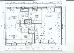 "Photo ""le plan de la maison"" Plane, Photos, Floor Plans, Construction, How To Plan, Architecture, House Template, House, Building"