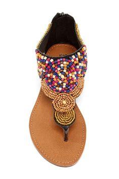 Bucco Marigold Beaded Sandal