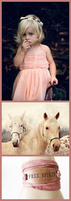 For the Gypsy Soul!  These items can be found here: Little Gypsy Blossom Crown: https://www.etsy.com/listing/240538431/little-gypsy-blossom-floral-crown-cream   Two White Horses Photograph: https://www.etsy.com/listing/90381812/fine-art-photograph-two-white-horses   Free Spirit Wrap Bracelet: https://www.etsy.com/listing/245821926/free-spirit-boho-dyed-silk-wrap-bracelet