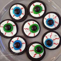 Halloween Food Ideas - Oreo Eyeball DIY Treats