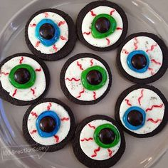 Halloween Food Ideas - Oreo Eyeball DIY Treats