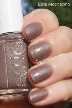 Essie Mochacino this is definitely one of my favorite neutral nail colors. The hottest and most flattering nail trends, nail styles and nail fashions we can't get enough of. Perfect nail art ideas and ways to paint your nails for the holidays. Look beauti Grey Nail Polish, Best Nail Polish, Gray Nails, Love Nails, How To Do Nails, Pretty Nails, Fun Nails, Gel Polish, Essie Nail Polish Colors