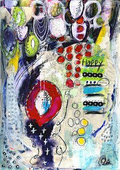 HAPPY FEELING Art Journal Page by Roben-Marie, via Flickr