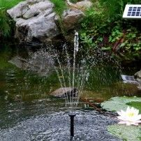 Solar Fountain Sunspray SE 360 ® for Small Ponds and Containers. Our Best Selling Fountain Powered by Solar with Battery Backup. Water Fountain Pumps, Pond Pumps, Diy Garden Fountains, Garden Pots, Solar Fountains, Home Fountain, Fountain Ideas, Fountain Lights, Solar Water