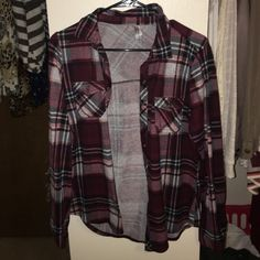 Flannel PERFECT condition. Worn once! Just too big for me, as I'm usually a small! Vanity Tops Button Down Shirts