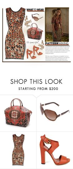 """""""Pattern mixing"""" by outfitsloveyou ❤ liked on Polyvore featuring Givenchy, Chanel, Hervé Léger and Gucci"""