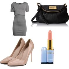 Classy and simple by bluelavendel on Polyvore featuring H&M, MARC BY MARC JACOBS and MAC Cosmetics