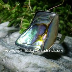 Abalone Shell Adjustable Ring