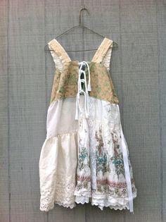 funky upcycled boho summer dress / altered and frayed by CreoleSha