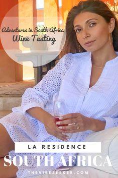 Adventures in South Africa Wine Tasting Series : the of the series is a lunch at La Residence, a beautifuly designed winery and hotel in Franchhoek. Wine Tasting, South Africa, Lunch, Adventure, Cape Town, American, Eat Lunch, Adventure Movies, Adventure Books