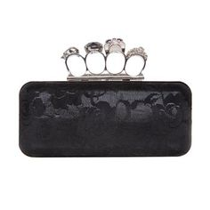 Lace Skull Knuckle Clutch. Maybe not the skulls so much but I LOVE the concept of this clutch