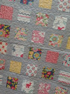 Sweet and Modern Baby Quilt in Hullabaloo fabrics