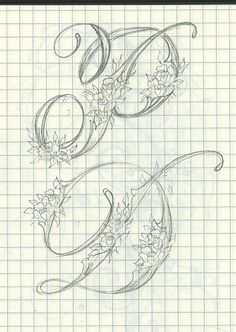 Ink Flourishes: My Leuchtturm Journals Creative Lettering, Lettering Styles, Lettering Design, Calligraphy Letters, Typography Letters, Modern Calligraphy, Cursive Alphabet, Fancy Letters, Beautiful Handwriting