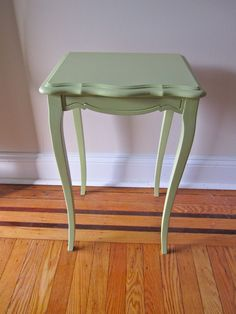 Small Green Side Table, End Table on Etsy, $25.00