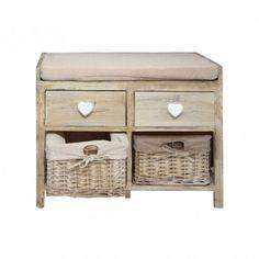 Modern Storage Bench Organizer Furniture Shoes Rack Wood Drawers Baskets Cushion for sale online