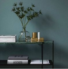"""GUBI: """"With its slender base and contrasting marble top plate, the TS Console in two heights suits perfect…"""""""