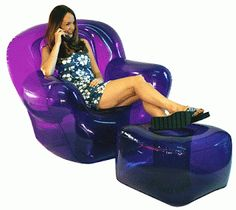 Blow-up furniture. Ridiculously uncomfortable, but it was a total must have.