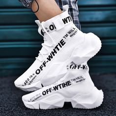Men Fashion Flying Woven High Top Sneakers Womens Fashion Sneakers, Fashion Shoes, Men Fashion, Skull Fashion, Puma High Tops, Hype Shoes, Men's Shoes, Fresh Shoes, Comfortable Sneakers