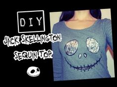 DIY Jack Skellington Sequin Sweater Top ٩(●̮̮̃•̃)۶‌