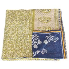 tulsicrafts   cotton sari kantha blanket   amka
