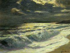 Summer Moon Cornish Coast by Julius Olsson