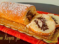 Rotolo di pan di spagna nutella alle nocciole  #ricette #food #recipes