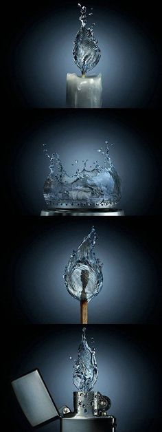 Funny pictures about If fire were water. Oh, and cool pics about If fire were water. Also, If fire were water. Michel Ciry, Creative Photography, Art Photography, Photography Editing, Splash Photography, Photography Tutorials, Digital Photography, Modelos 3d, Image Digital