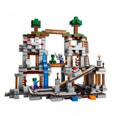 Just like in the game Minecraft, kids can blast the ore free with the 922-piece LEGO Minecraft The Mine building set.