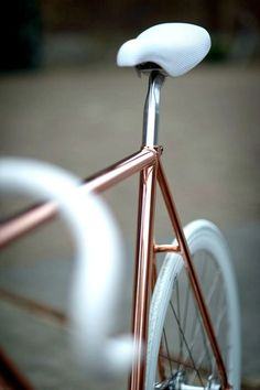 want this for my wall // copper, bike, cycling, bicycle, design