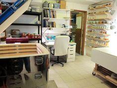 pottery blog: emily murphy » a pottery studio tour: my sunny basement studio