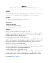 resume for nanny job creative resume design templates word pinterest nanny jobs and resume
