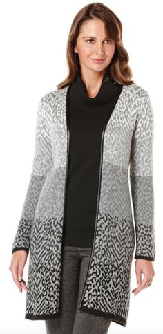 Take on a new look with this Ombre Animal Print Jacquard Duster and earn CASH BACK when you shop at @rafaellastyle